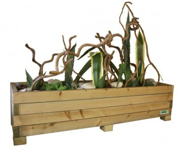 Wood Flower Planter L