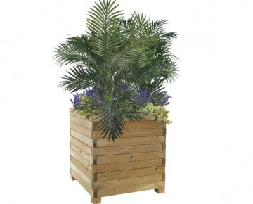 Wood Flower Planter kube