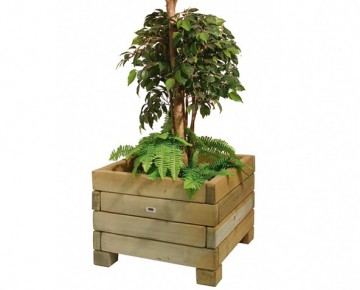 Wood Flower Planter
