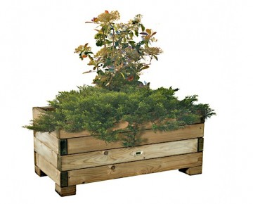Wood Flower Planter M